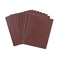 Universal Fit Assorted 1/4 sanding sheet set (L)145mm (W)115mm, Pack of 10