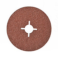 Universal Fit Sanding disc set Punched (D)115mm 24/60/80 grit, Pack of 5
