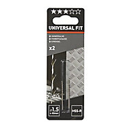 Universal HSS Drill bit (Dia)1.5mm (L)40mm, Pack of 2