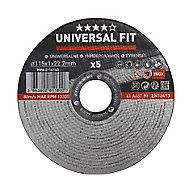 Universal Inox & metal Cutting disc (Dia)115mm, Pack of 5