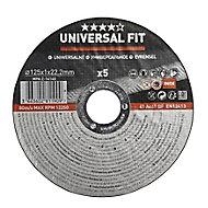 Universal Inox & metal Cutting disc (Dia)125mm, Pack of 5