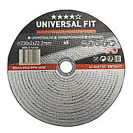 Universal Metal Cutting disc (Dia)230mm, Pack of 5