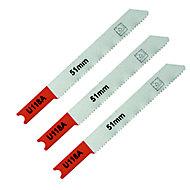 Universal U-shank Jigsaw blade SJG77586 (U118A) 70mm, Pack of 3