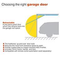 Utah Retractable Garage door, (H)1981mm (W)2438mm