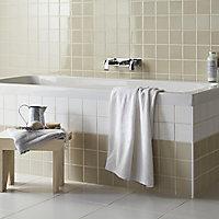 Utopia White Gloss Ceramic Wall Tile, Pack of 25, (L)100mm (W)100mm