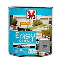 V33 Easy Aluminium Metallic effect Furniture paint, 0.5L