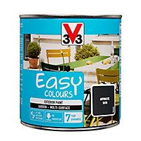 V33 Easy Anthracite Satin Furniture paint, 500ml