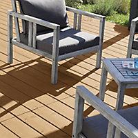 V33 High performance Light oak UV resistant Decking Wood oil, 2.5L