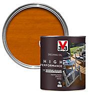 V33 High performance Light oak UV resistant Decking Wood oil, 5L