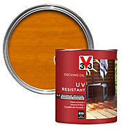 V33 Medium oak UV resistant Decking Wood oil, 2.5L