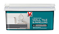 V33 Renovation Anthracite Satin Wall tile & panelling paint, 2L