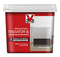 V33 Renovation Cast iron Metallic effect Radiator & appliance paint, 750ml