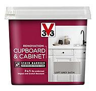 V33 Renovation Loft grey Satin Cupboard & cabinet paint, 750ml