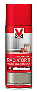 V33 Renovation Stainless steel Metallic effect Radiator & appliance paint, 400ml