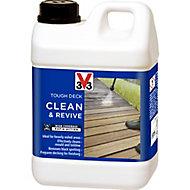V33 Tough deck Clear Decking Cleaner & reviver, 2L