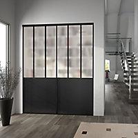 Valla Contemporary Black Sliding Wardrobe Door (H)2260mm (W)760mm