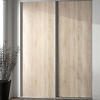 Valla Natural oak effect Sliding Wardrobe Door (H)2260mm (W)922mm