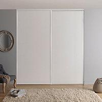 Valla White Sliding Wardrobe Door (H)2260mm (W)922mm