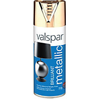 Valspar Brilliant gold effect Metallic Spray paint 400 ml