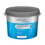 Valspar Trade White Matt Emulsion paint, 10L