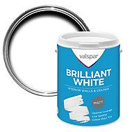 Valspar White Matt Emulsion paint, 5L
