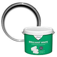 Valspar White Silk Emulsion paint, 10L