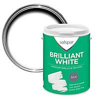 Valspar White Silk Emulsion paint, 5L
