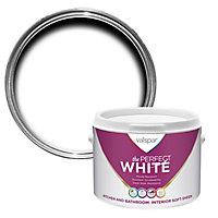 Valspar White Soft sheen Emulsion paint, 2.5L