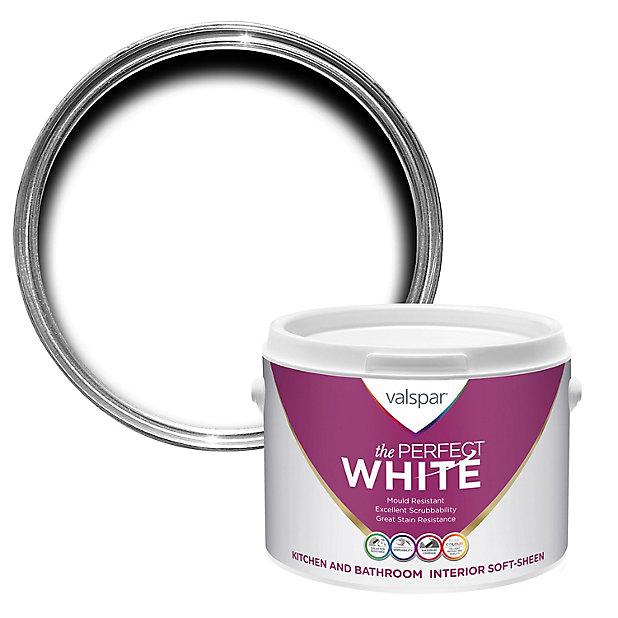 Valspar White Soft Sheen Emulsion Paint, Valspar Bathroom Paint