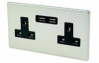 Varilight 13A Double USB socket