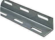Varnished Cold-pressed steel Equal L-shaped Angle profile, (L)2m (W)27mm