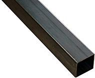 Varnished Cold-pressed steel Square Tube, (L)1m (W)12mm (T)1mm