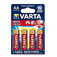 Varta Longlife Max Power Non rechargeable AA Battery, Pack of 4
