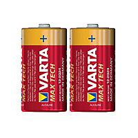 Varta Longlife Max Power Non-rechargeable C (LR14) Battery, Pack of 2