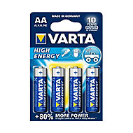 Varta Longlife Power Non rechargeable AA Battery, Pack of 4