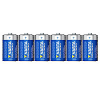 Varta Longlife Power Non rechargeable D (LR20) Battery, Pack of 6