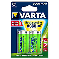 Varta Rechargeable C (HR14) Battery, Pack of 2