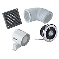 VDISL100S Bathroom Shower fan kit