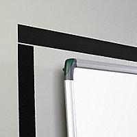 Velcro brand Black Hook & loop Tape (L)1m (W)50mm