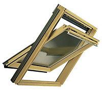 VELUX Nordic pine Centre pivot Roof window (H)1180mm (W)780mm