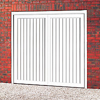 Vermont Made to measure Framed White Retractable Garage door