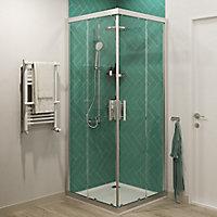 Vernisse Green Gloss Ceramic Wall Tile, Pack of 41, (L)301mm (W)75.4mm