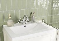 Vernisse Green Gloss Ceramic Wall Tile, Pack of 80, (L)150mm (W)75.4mm