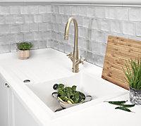 Vernisse Grey Ceramic Border tile, (L)300mm (W)50mm