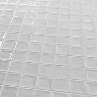 Vernisse Light grey Gloss Ceramic Wall Tile, Pack of 84, (L)100mm (W)100mm