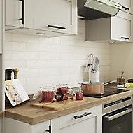 Vernisse Off white Gloss Ceramic Wall Tile, Pack of 41, (L)301mm (W)75.4mm