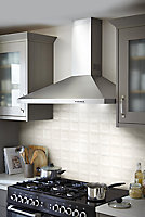 Vernisse Off white Gloss Ceramic Wall Tile, Pack of 84, (L)100mm (W)100mm