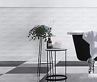Vernisse White Ceramic Border tile, (L)300mm (W)50mm