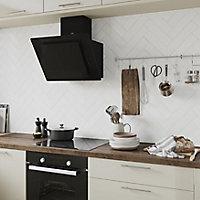 Vernisse White Gloss Ceramic Wall Tile, Pack of 41, (L)301mm (W)75.4mm