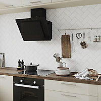 Vernisse White Gloss Ceramic Wall Tile, Pack of 80, (L)150mm (W)75.4mm